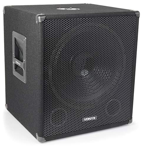 Skytec Professionelle Bassbox 300 W 38cm Subwoofer Tiefpass-Filter