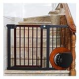 ZHANWEI ベビーゲート 木製エクストラワイド、 ペットゲート プレッシャーマウントキット、 子フェンスを自動的に閉じる 階段廊下バルコニー用 (Color : Red+black, Size : Width 97-104cm)