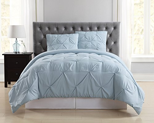 Truly Soft Everyday Pleated Comforter Set, Full/Queen, Light Blue
