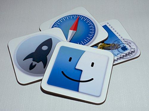 MAC OS X Yosemite App Untersetzer, 4Stück (Finder, Launchpad, Safari und Mail)