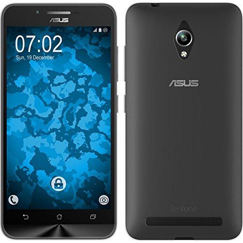 PhoneNatic Case kompatibel mit Asus Zenfone Go (ZC500TG) - Clear Silikon Hülle Slimcase + 2 Schutzfolien