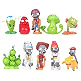 Dondonmin Plants vs. Zombies Estatuilla de Juguete Mini Figuras 10Pcs Figuras de Juguete Decoración Juguete Gran Regalo for niños (Color : A01, Size : 4-7cm)