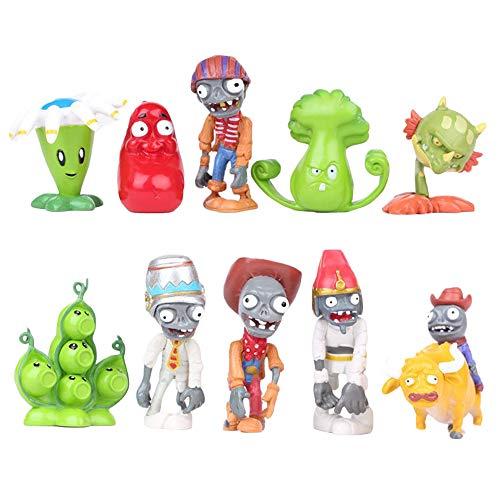 Dondonmin Plants vs. Zombies Spielzeugfigur Mini Figuren 10 stück spielzeugfiguren Dekoration Spielzeug großes Geschenk for Kinder (Color : A01, Size : 4-7cm)