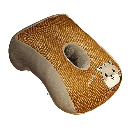 Ganghuo Almohada de la siesta del viaje de la felpa del algodón del cuello de la cabeza de la almohada de la espalda para los aviones del coche,