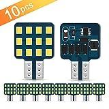 Ultra Bright T10 921 912 168 194 LED Bulbs 12-24V RV Interior Lights for Trailer, Trunk, Camper, Boat, Motorhome Ceiling Dome Light, Pack of 10
