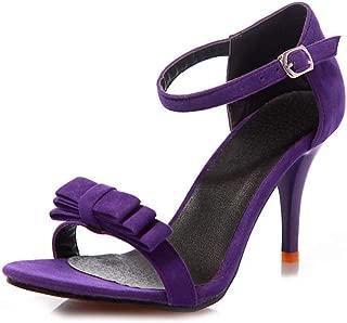 BalaMasa Womens ASL06808 Pu Heeled Sandals