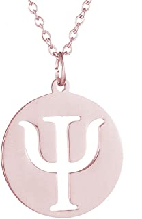 AOCHEE Psi Symbol Necklace Greek Letter Necklace Psi Pendant Necklace Medical Sign Jewelry