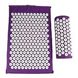 Sponge Back Neck Massage Pad Acupressure Mat and Pillow Set Manual Massager