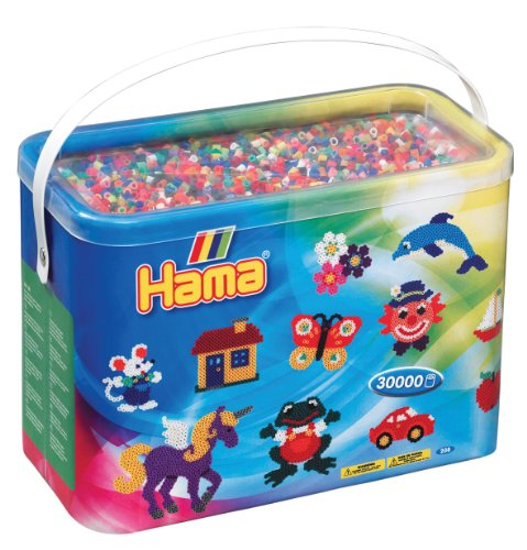 Hama – 208-68 – Kreative Freizeit – Baril 30.000 Bügelperlen – Midi – Unisex