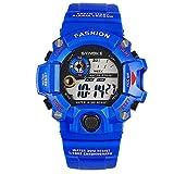 Gli orologi da polso dell'orologio dell'orologio della vigilanza di sport degli uomini LED vigilanze elettronici per , deep blue