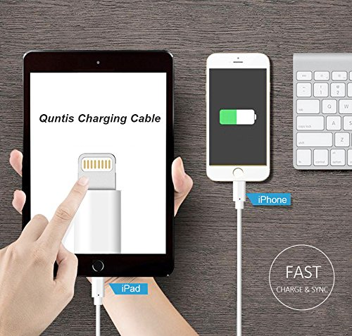 Quntis 3 Pack 1m iPhone Ladekabel, MFi Zertifiziert USB A auf Lightning Kabel, iPhone Kabel Set kompatibel mit iPhone SE 2020 11 Pro XS Max XR X 8 Plus 7 Plus 6 Plus 5s SE iPad Pro