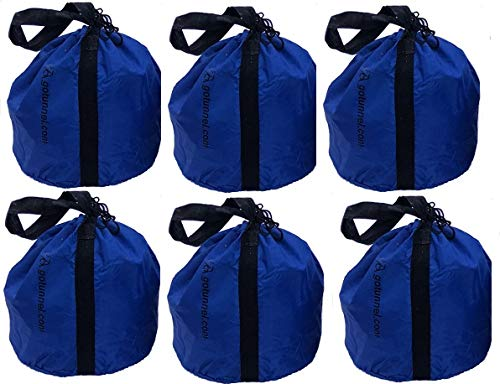 Economy Sand Bag Anchor Bags (with Handles) - Weights for Dog Agility Tunnels, Soccer Goals, Tents, Canopies, Photography, Production Events, Mic Stands and Other Equipment - 6 Bag Set