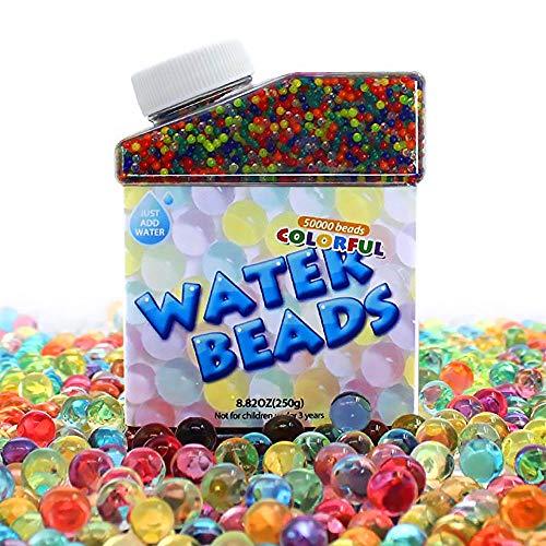Gudotra 50000 Wasserperlen Kristallkugeln Gel für Orbeez SPA Hochzeitsdekoration Aqua Perlen Blumen