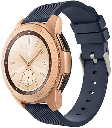 Gransho Uhrenarmband 20mm, Premium Weiches Silikon Verstellbarer Ersatzgurt (20mm, Mitternachtsblau)