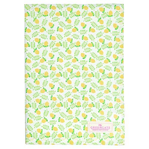 GreenGate Tea Towel Limona Petit White