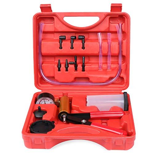HSEAMALL Handheld Bremsenentlüftungsgerät,Vakuumpumpe kfz unterdruckpumpe bremsfluessigkeit tester bremsen entlüften