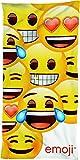 BERONAGE Emojie Badetuch Smiley 75 cm x 150 cm - 100% Baumwolle...