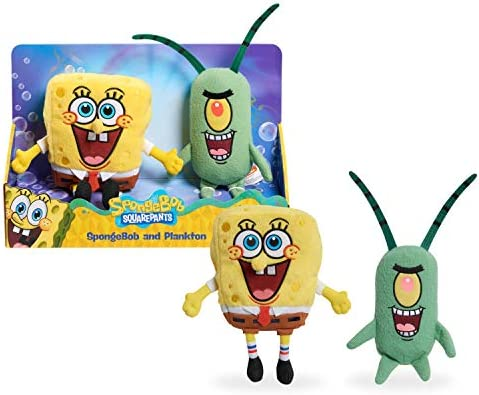 Nickelodeon Spongebob Squarepants 2 Piece Plush Set Spongebob and Plankton product image