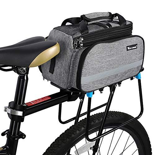 Alforjas Bicicleta Trasera Impermeable Bolsa Trasera Bicicleta Bicicleta de Montaña de Accesorios Ciclismo Accesorios Bolsas para Bicicleta Gray,Free Size