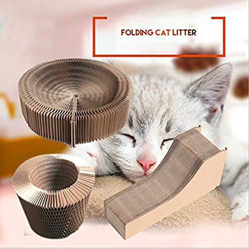 DishyKooker Haustier Breathable Nest Faltbare Pappkratzer Spielzeug für Katzen
