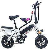Ruedas Eléctrica Bicicleta eléctrica, ligero y compacto del recorrido que dobla la ciudad de cercanías 350W Motor 14inch Mini pedaleo asistido E-Bici con 48V batería extraíble de litio for adultos uni
