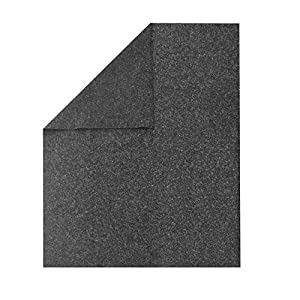 """UBOXES Textile Moving Blankets (12 Pack) Professional Quality Moving Skins 54"""" x 72"""" Pads, Grey"""
