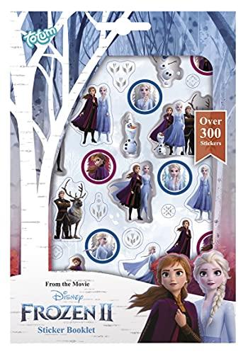 Frozen II 680708 Frozen II Stickerheft mit über 300 zauberhaften Stickern von Anna & Elsa, für Scrapbooking und Bastelarbeiten