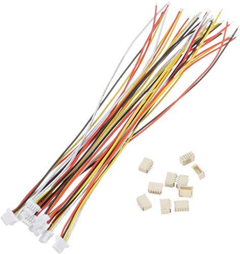 20 Sets Mini Micro SH 1.0 JST Connecteur 4-Pin Plug Mâle Avec Câble 100 mm /& Femelle