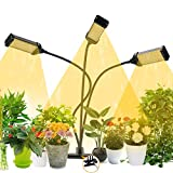 JAMIEWIN Grow Lamp for Indoor Plants with Timer - Led Grow Light Bulbs Full Spectrum 153 LEDs Led Growlight 7 Color Lighting Modes 6 Brightness Settings
