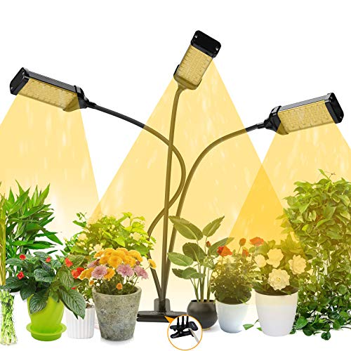 JAMIEWIN LED Plant Grow Lamp with Timer Indoor - 153 LEDs Growing Light...