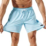 MaaMgic Mens Athletic 7' Running Swimming Shorts with Mesh Lining...