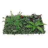 Telón de fondo de vegetación Paneles de boj, 23.62 'x15.75' plantas artificiales verdes uv protegidas de caja de caja de cajón de caja de caja de caja de césped de césped jardín de la pared del piso P