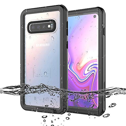 vcloo Waterproof Case for Galaxy S10 Full Sealed Snowproof Shockproof Dustproof Dirtproof Rugged Heavy Duty Clear Underwater Cover IP68 Certified