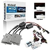 Sidaqi H1 HID Kit de conversión de faros de xenón 6000K Dos balastos HID ultradelgados de 55W para faros delanteros/luces bajas Automóviles