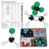 Estructura orgánica - 179 piezas Kit de estructura inorgánica orgánica molecular Ato-m Link Model Set para estudiantes y profesores