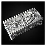 Caja Antigua De Joyería Vintage Misteriosa Egipcia, Organizador De Joyería De Metal Grande, Caja De Almacenamiento De Joyas De Anillo, Regalo Creativo