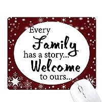家族の話を引用 オフィス用雪ゴムマウスパッド