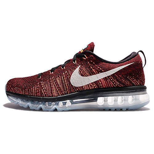 Nike Flyknit air max Mens Running Trainers 620469 Sneakers Shoes (UK 7.5 US 8.5 EU 42, Black White Medium Blue 016)