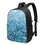 BYTKMFD Mochila de viaje con patrón de Rime, mochila de viaje para ordenador portátil, para hombre y mujer, extra grande, antirrobo, con puerto de carga USB de 17 pulgadas, Negro, Talla única