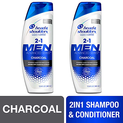 Head and Shoulders Shampoo and Conditioner 2 in 1, Anti Dandruff Treatment and Scalp Care, Charcoal...