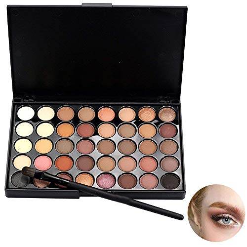 Hilai Cosmetic - Paleta de maquillaje de sombra de ojos mate con...