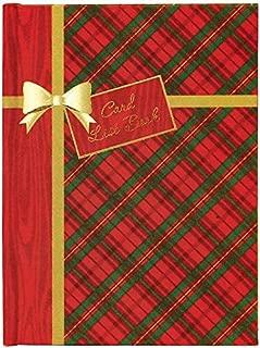 C.R. Gibson Red and Green Tartan Plaid Christmas Card Address Book, 30 pgs, 5'' W x 6.8'' H