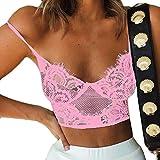 YKARITIANNA Women G-Strings, Thongs & Tangas, Wire Free Bra Lingerie Sexy V-Neck Underwear Novelty More Panties Pink