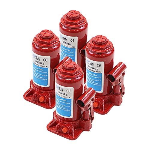 選べる2カラー 油圧式 ボトルジャッキ 定格荷重約10t 約10000kg 4台セット 4個 油圧ジャッキ だるまジャッキ ダルマジャッキ ジャッキ 手動 安全弁付き ジャッキアップ タイヤ交換 工具 小型 車載用 車 整備 修理 メンテナンス 建設 工場