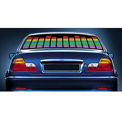 Eximtrade Auto Coche LED Ligero Sonar Música Pegatinas Ecualizador Brillar Audio Voz Ritmo Lámpara (Multicolor)