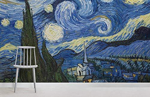 Sterrennacht door Van Gogh Wallpaper Muurschildering Fotobehang 3D Waterdichte Home Decoratie Schilderij Fresco 150 x 105 cm.