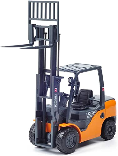 suministramos lo mejor LIUFS-Coche De De De Aleación Carga Y Descarga Carretilla Elevadora Juguete Kaidiwei Aleación Modelo De Vehículo De Ingeniería 1 20 ( Color   naranja )  punto de venta en línea