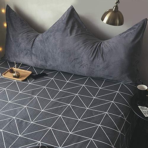 NUBAO Kopfteil-Kissen für Bett, abnehmbares Kopfteil, weich, waschbar, langlebig, Nachttischkissen, Körperpositionierung, Dekoration, Doppel-Lesekissen, 150 x 80 cm