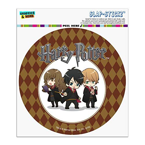 Graphics and More Harry Potter Anime Characters Automotive Car Window Locker Circle Bumper Sticker
