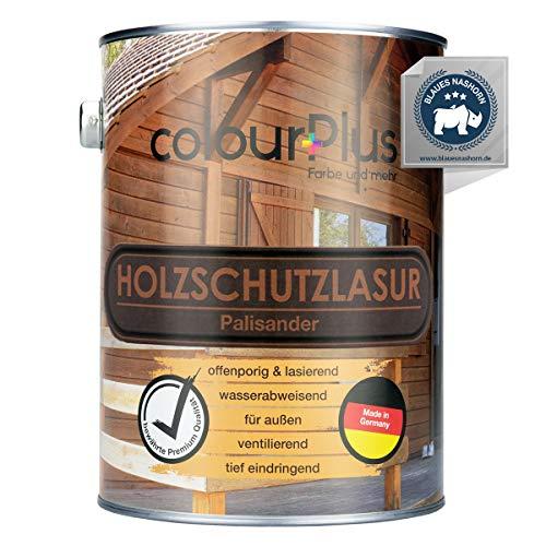 colourPlus® Barniz de alta protección (2,5L, Palo de rosa) Barniz satinado para madera, exteriores - Base para madera - Pintura de madera para exterior - Fabricado en Alemania